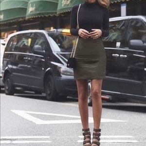 Forever 21 Skirts - Olive green skirt and black Bodysuit Outfit bundle f7ccba818
